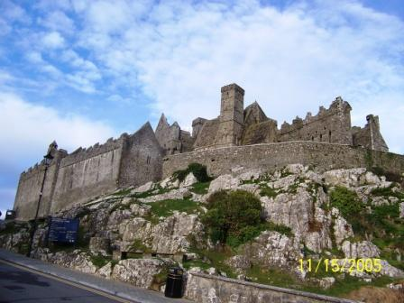 Rock of Cashel viewed from below