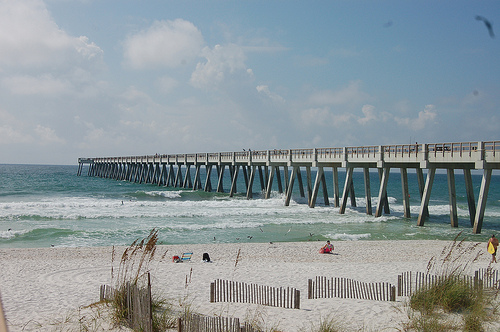 Navarre beach fishing pier longest pier in gulf of for Navarre beach fishing pier