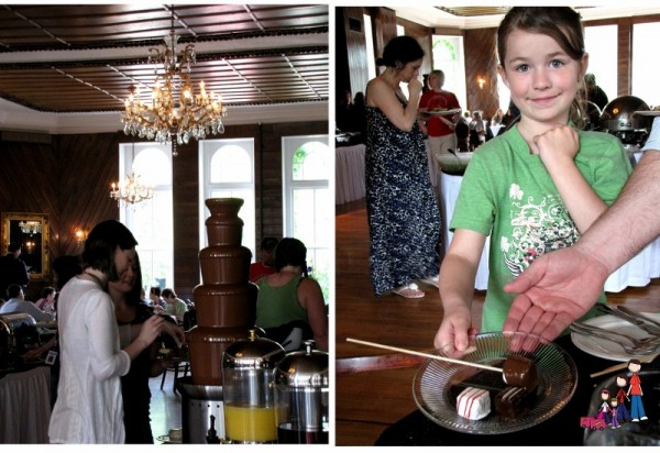 Chocolate Fountain at Buffet, Crescent Hotel, Eureka Springs