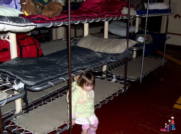 Trying a bunk on the USS Joseph P Kennedy, Jr.