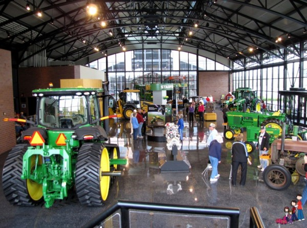 Inside the John Deere Pavilion in Moline, Illinois