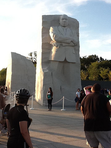 The new Martin Luther King Memorial in Washington, D.C.