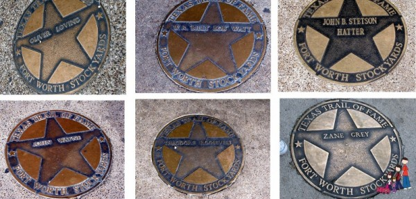Names along the Texas Trail of Fame