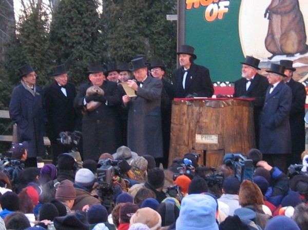 Groundhog Day in Punxsutawney, Pennsylvania