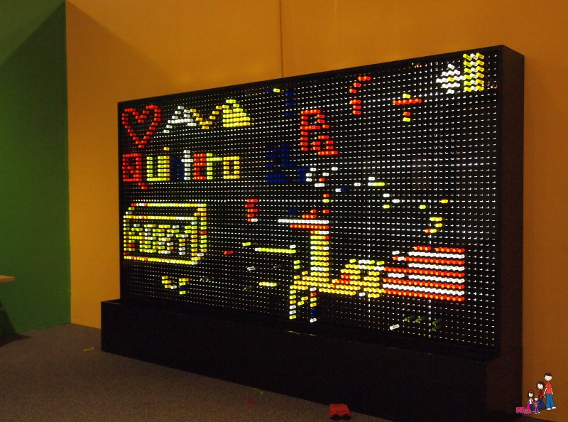 Life Size Lite Brite at Arizona Museum for Youth