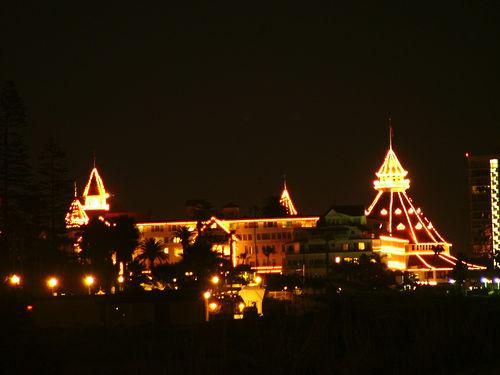 hotel del coronado pool. The Hotel Del at Night