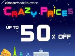 Accor 'Crazy Prices' promo
