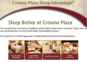 Crowne Plaza Sleep Advantage