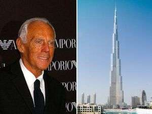 Giorgio Armani &amp; Burj Khalifa in Dubai
