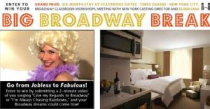 Staybridge Suites Times Square 'Big Broadway Break' contest