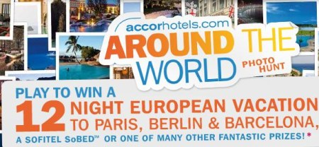 Accor hotels - Around the world online game