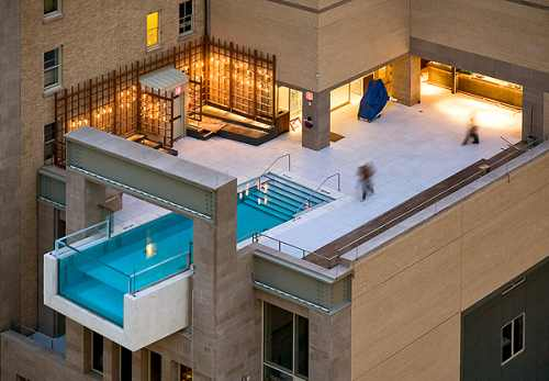 Rooftop Pool at The Joule, Dallas