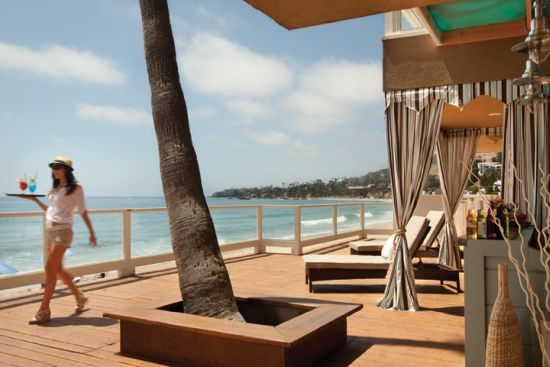 Oceanfront Deck at the Pacific Edge Hotel in Laguna Beach, CA