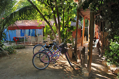 Posada los Mapaches in Tulum, Mexico Outfits Guests with Bicycles