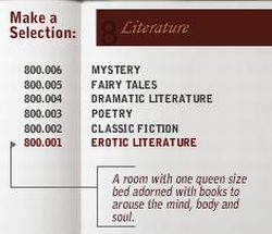 Erotic Literature room at Library Hotel, New York