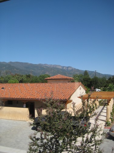 Casa Ojai Inn with a view of the Topa Topa Mountains