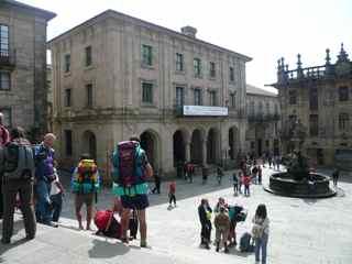 Modern Pilgrims in Santiago de Compostela