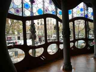 Praktik is near many Gaudi buildings in Barcelona