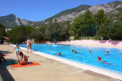 Swimming pool at Camping Cala Gonone