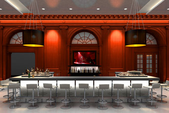 The bar at Philadelphia's new Le Meridien hotel.