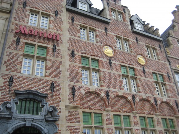 Three year old Marriott Ghent, located in Belgium combines the old with the new. Historic location overlooking the Leie River. Luxury Travel Writer Nancy D. Brown