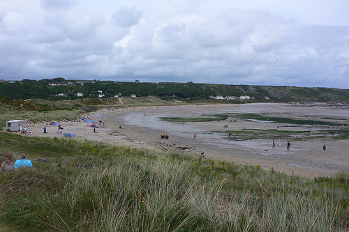 Port Eynon beach on the Gower peninsula