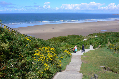 Rhossili Beach on the Gower in Wales
