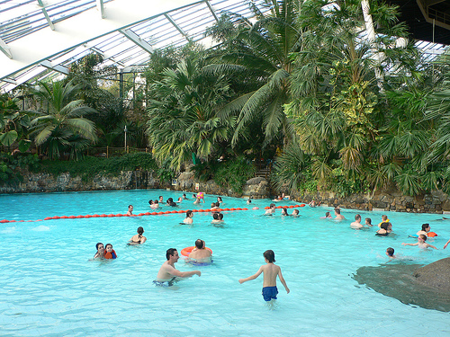 Pool dome at Center parcs, Longleat, UK