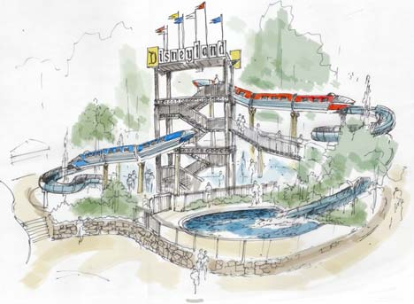 Artist Rendering of New Water Play Area at Disneyland Hotel