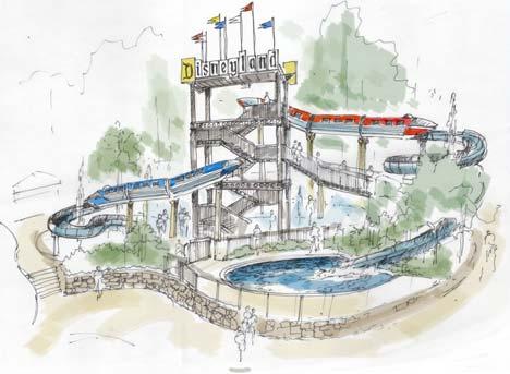 Artist Rendering of New Water Play Area at Disneyland Hotel