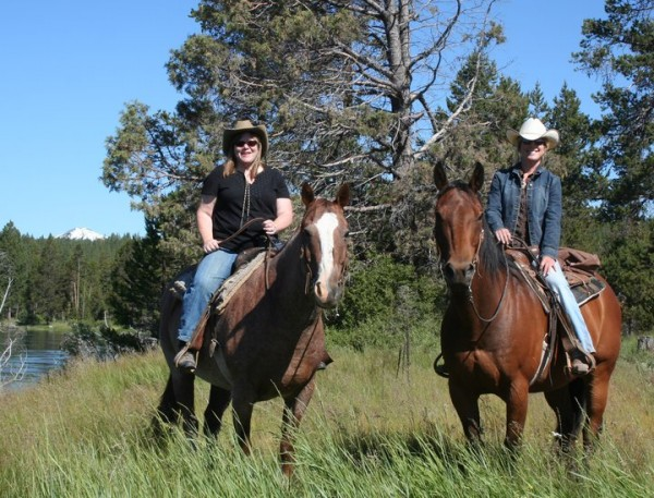 Travel Writer Nancy D. Brown, horseback ride, Sunriver Stables