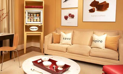 Haagen-Dazs Themed Suite at Hotel Triton in San Francisco