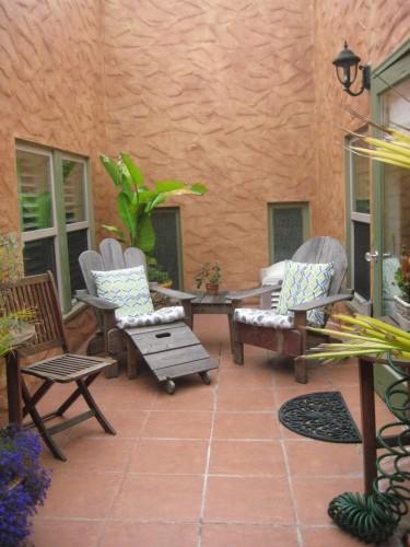 Half Moon Bay Inn, private courtyard patio, nancy d. brown, travel, california