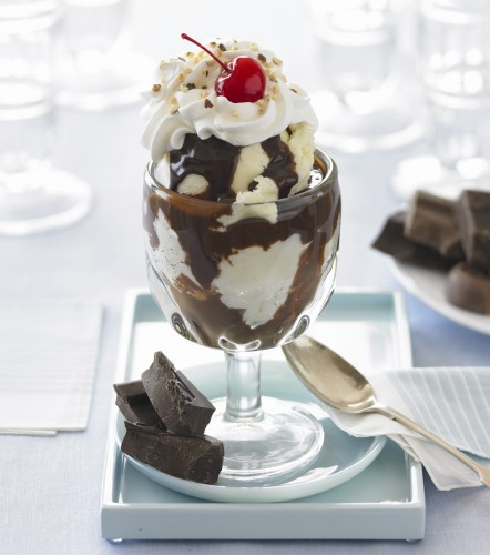 Ghiradelli Square Hot Fudge Sundae, Nancy D. Brown, chocolate