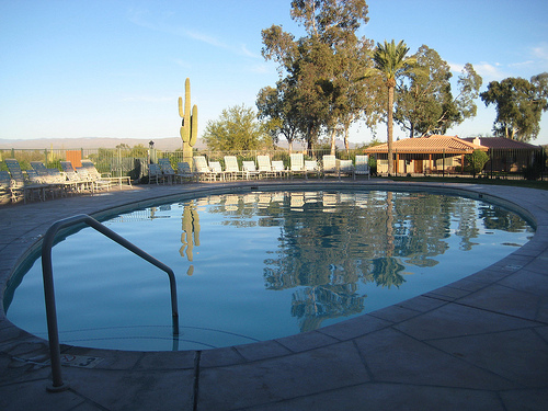 """Rancho de los Caballeros Swimming Pool"""