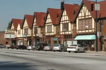 Tudor Style Buildings in Avondale Estates