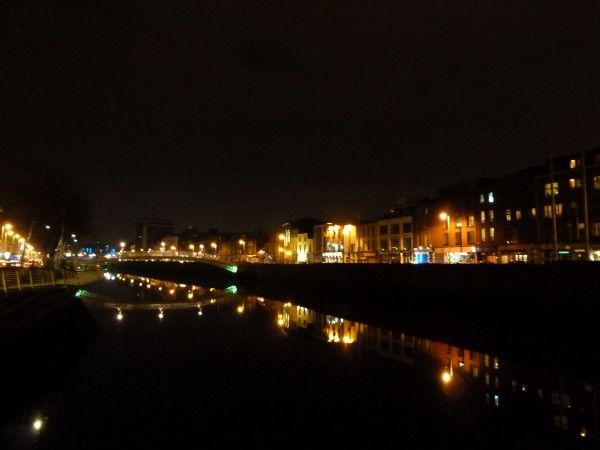 Dublin at Night, River Liffey