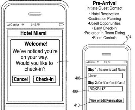 Apple Hotel app patent