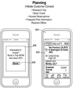 Apple travel app patent